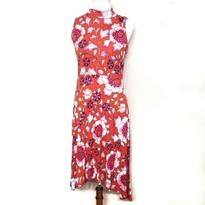Maeve Floral Mock Neck Cleary Dress